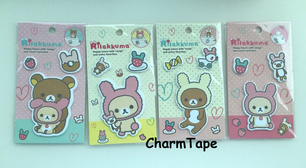 Rilakkuma bear Sticky Post It Memo Note Pad 45 sheets SS383 - CharmTape - 3