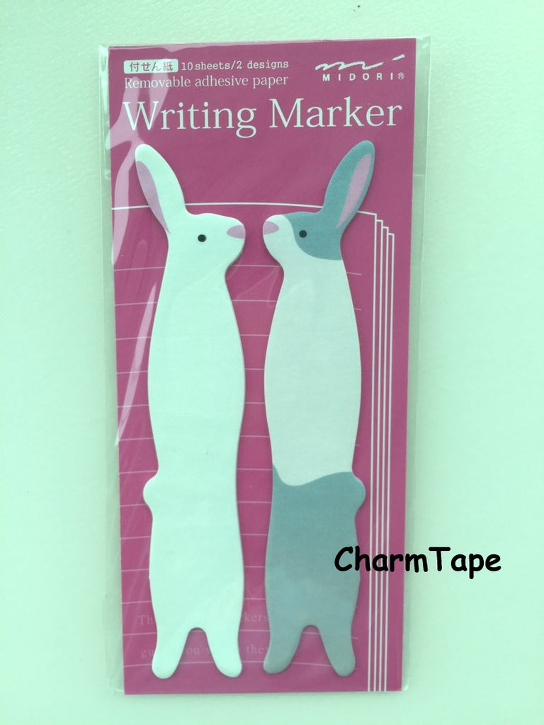 Long Ear Bunny Rabbit Post-it Memo Marker Pad 20 sheets SS401 - CharmTape - 1