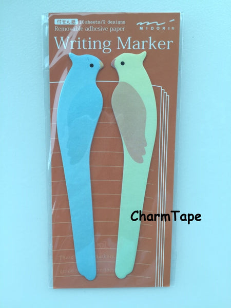 Parrot Long bird Shaped Sticky Post-it Memo Marker Pad  20 sheets SS403 - CharmTape - 1