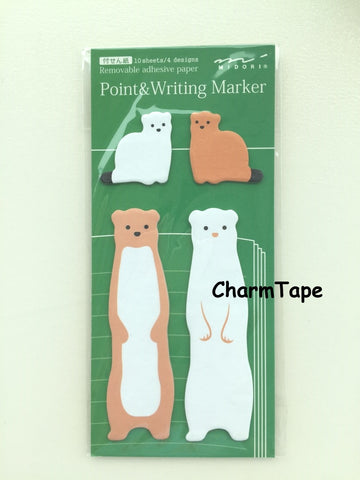 Bear & Baby Shaped Sticky Post-it Memo Marker Pad  40 sheets SS407 - CharmTape - 1