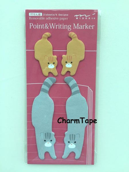 Cat & Kitten Mirror Sticky Post-it Memo Marker Pad 40 sheets SS410 - CharmTape - 1