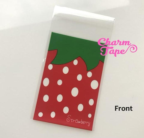 20/50/100 bags Strawberry Gift Bags Cello Bags Self-adhesive Cookie bags - Favors Bags - Party bags CB75