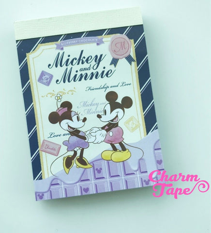 Mickey and Minnie mini Memo Pad by Disney from Japan