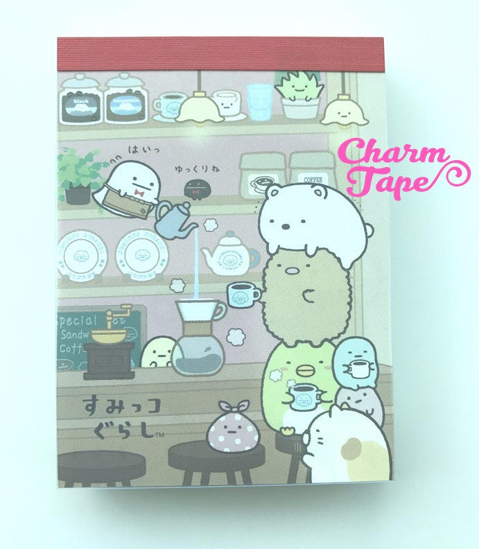 Sumikko Gurashi in coffee shop mini Memo Pad by San-x from Japan