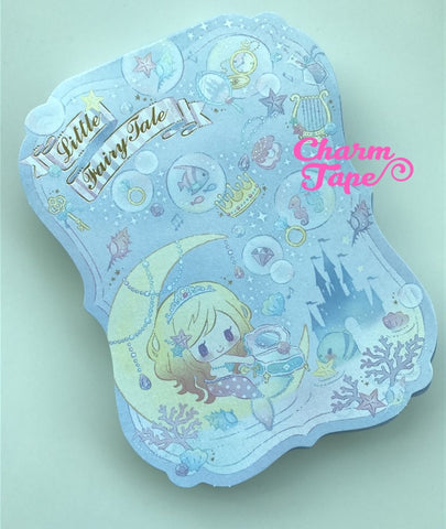 Little mermaid Big Memo Pad by Qlia from Japan