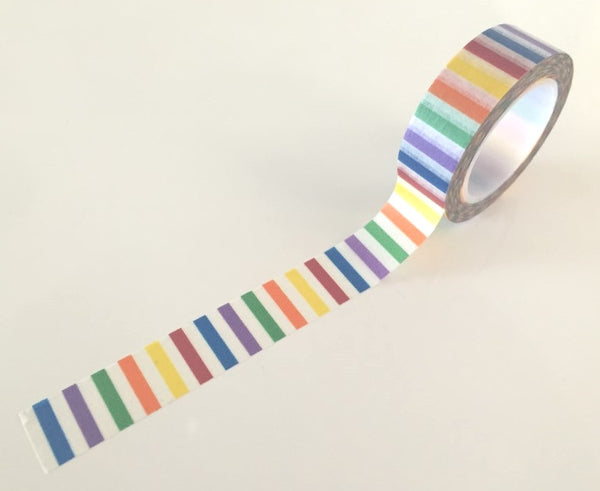 Vertical Rainbow Stripes Washi tape - 15 mm Wide - 10 meters  WT771 - CharmTape - 2