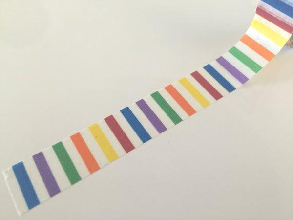 Vertical Rainbow Stripes Washi tape - 15 mm Wide - 10 meters  WT771 - CharmTape - 3