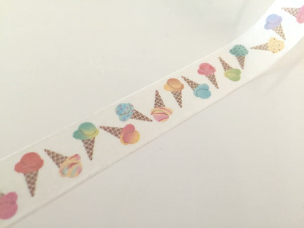 Ice-cream cones - Washi tape -15 mm 10 meters WT794 - CharmTape - 3