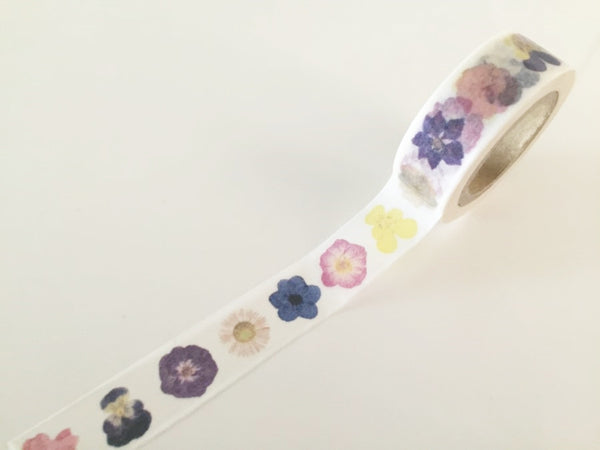 Flowers Closeup  - Washi tape - 15mm x 10m WT819 - CharmTape - 2