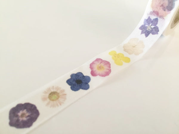 Flowers Closeup  - Washi tape - 15mm x 10m WT819 - CharmTape - 3