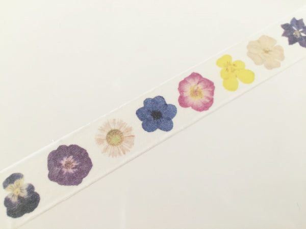 Flowers Closeup  - Washi tape - 15mm x 10m WT819 - CharmTape - 4