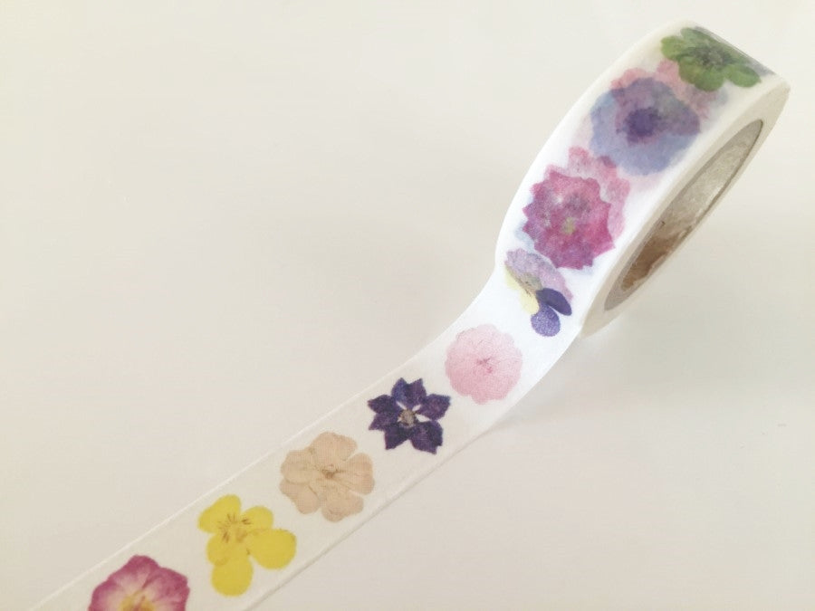 Flowers Closeup  - Washi tape - 15mm x 10m WT819 - CharmTape - 1