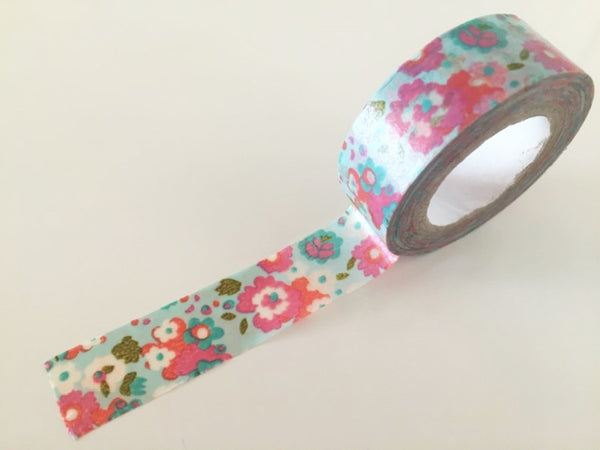 Shabby Chic Flowers - Washi tape - 15mm x 8 m WT816 - CharmTape - 2