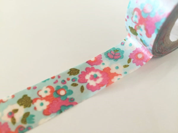 Shabby Chic Flowers - Washi tape - 15mm x 8 m WT816 - CharmTape - 1