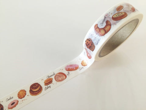 Cake & Pastries Washi Tape 8m x 15mm WT847 - CharmTape - 1