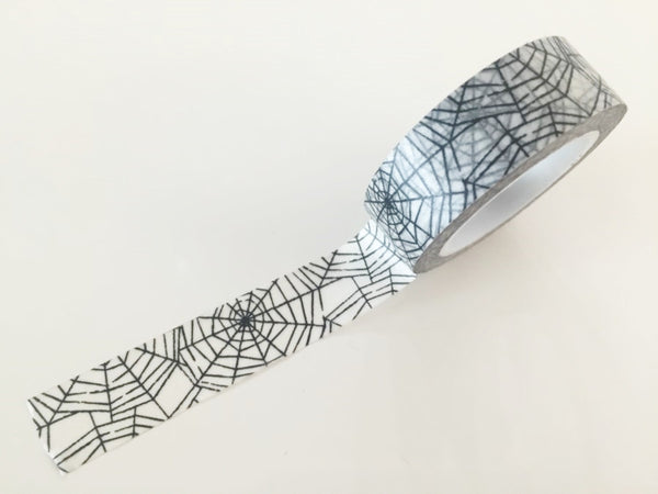 Spider Web Washi tape - 15 mm Wide - 10 meters  WT769 - CharmTape - 1