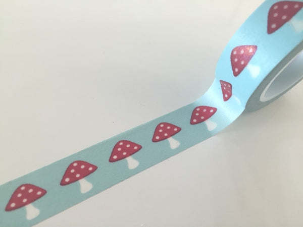Washi tape - Polka dots Mushroom - 15 mm Wide - 10 meters  WT765 - CharmTape - 1