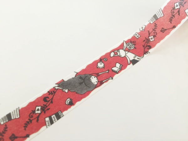 Alice in Wonderland Washi Tape - 10 meters WT828 Shinzi Katoh - CharmTape - 3