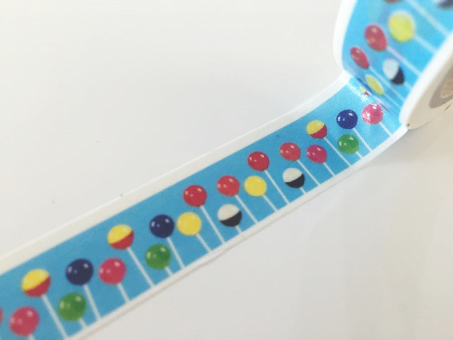 Lollipop candy Washi Tape 8m x 15mm WT841 - CharmTape - 1