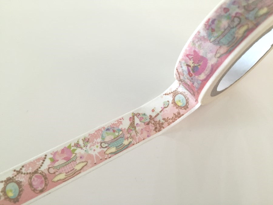 Tea time Fantasy - Washi tape - 10 meters WT804 - CharmTape - 1