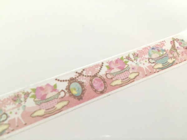 Tea time Fantasy - Washi tape - 10 meters WT804 - CharmTape - 2