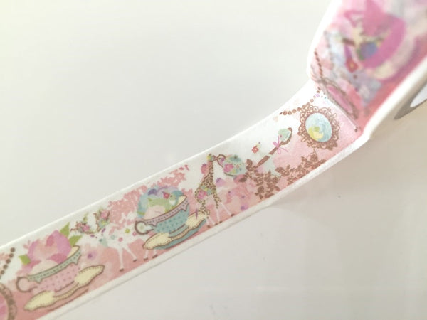 Tea time Fantasy - Washi tape - 10 meters WT804 - CharmTape - 3