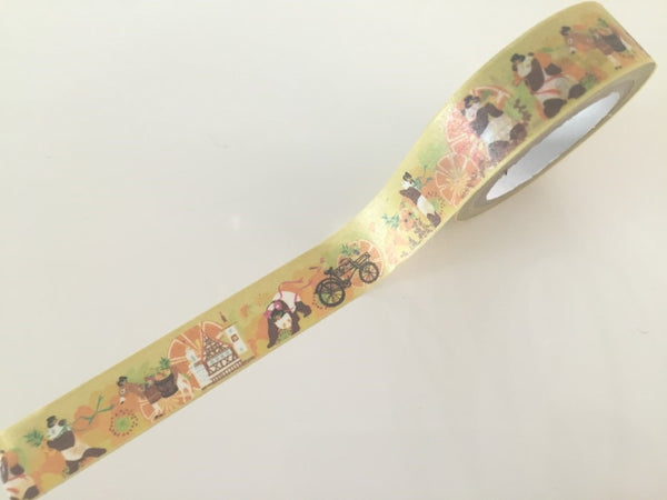 Panda Bear Fantasy - Washi tape - 10 meters WT808 - CharmTape - 2