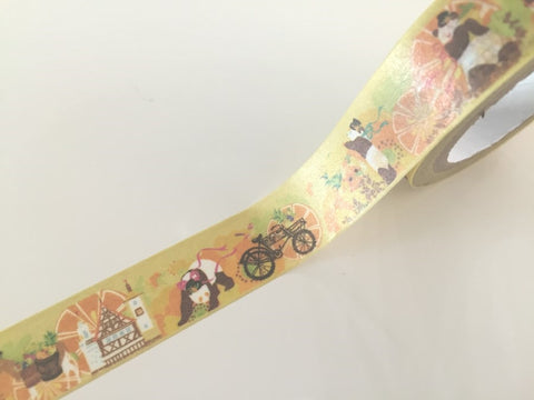 Panda Bear Fantasy - Washi tape - 10 meters WT808 - CharmTape - 1