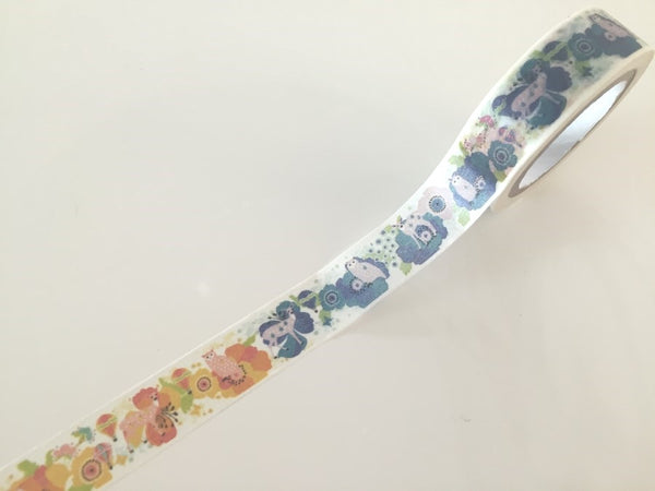 Woodland Deer & Owl - Washi tape - 15 mm Wide - 10 meters WT791 - CharmTape - 2