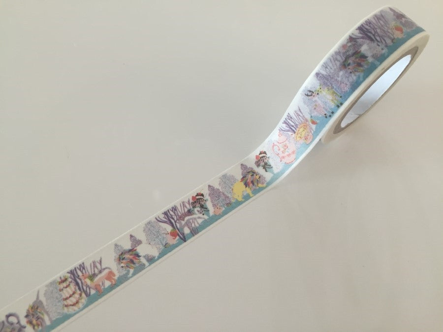 Lion Tea time Fantasy - Washi tape - 10 meters WT805 - CharmTape - 1