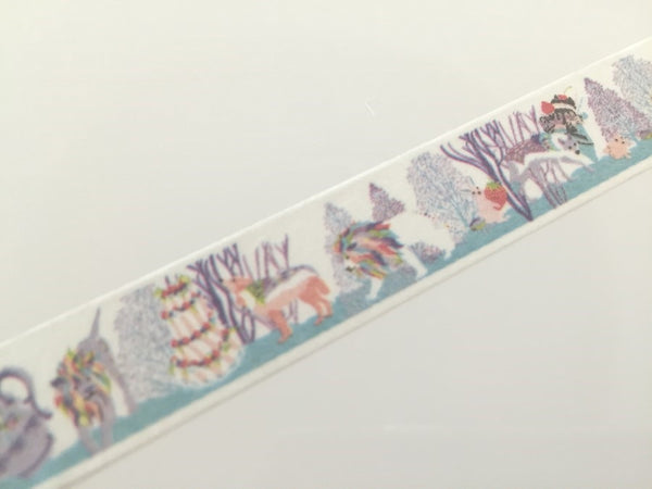 Lion Tea time Fantasy - Washi tape - 10 meters WT805 - CharmTape - 2