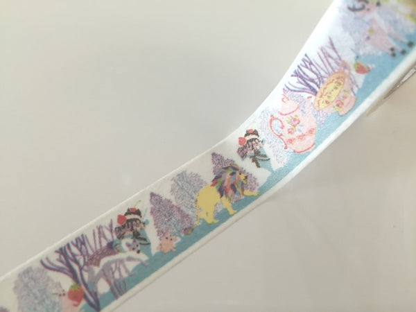 Lion Tea time Fantasy - Washi tape - 10 meters WT805 - CharmTape - 3