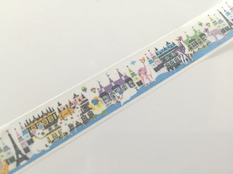 Animal & City Fantasy - Washi tape - 10 meters WT806 - CharmTape - 1