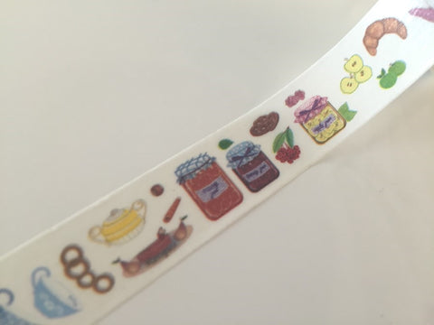 Tea cups & Jam Washi Tape 8m x 15mm WT842 - CharmTape - 1