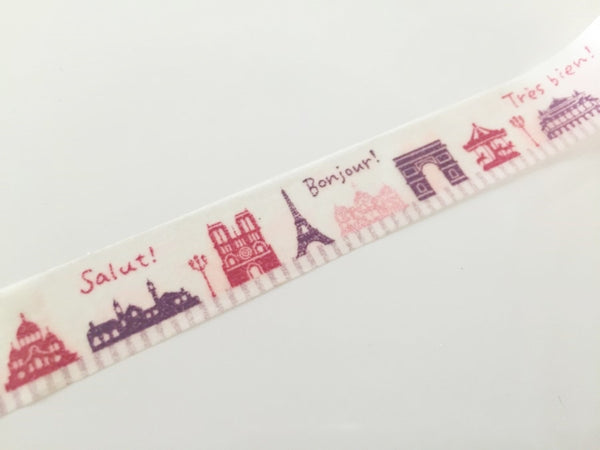 French Landmark - Washi Tape 15mm x 10 meters WT860 - CharmTape - 3