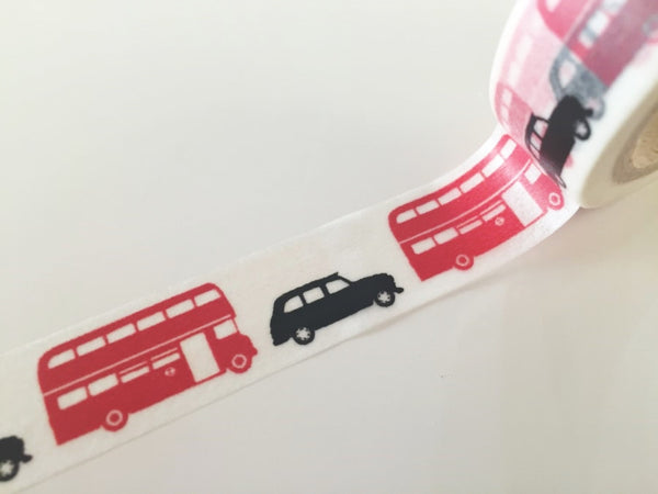 London Cab & Bus - Washi tape - 15 mm Wide - 10 meters  WT789 - CharmTape - 2