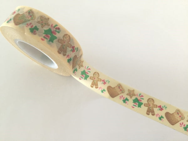 Festive Gingerbread Man - Washi tape -15 mm 15 meters WT799 - CharmTape - 2