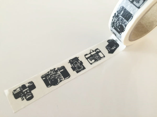 Black Camera - Washi Tape 15mm x 10 meters WT836 - CharmTape - 2