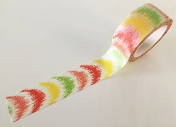 Washi Masking Tape Roll - Summer Stripes  (20mm x 10m) WT780 - CharmTape - 2