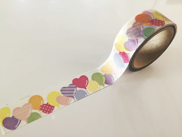 Party Air Balloon Washi Tape 20mm x 10m WT863 - CharmTape - 2