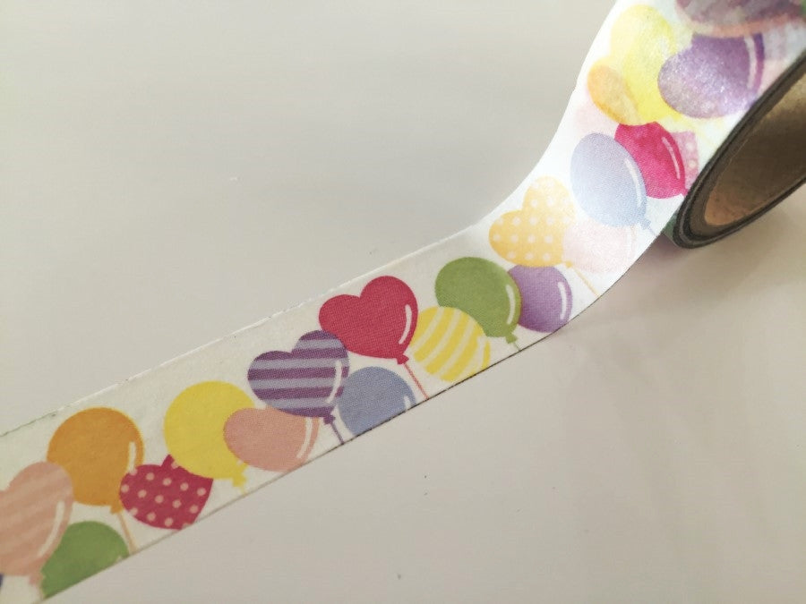 Party Air Balloon Washi Tape 20mm x 10m WT863 - CharmTape - 1