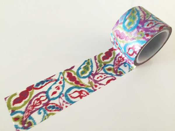 Big Washi Tape - Summer paisley 30mm - CharmTape - 2