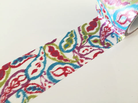 Big Washi Tape - Summer paisley 30mm - CharmTape - 1