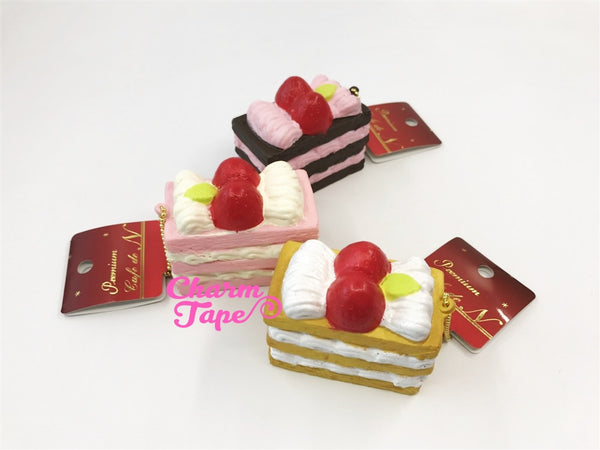 Premium Cafe de N Mille-Feuille Cake squishy cellphone charm