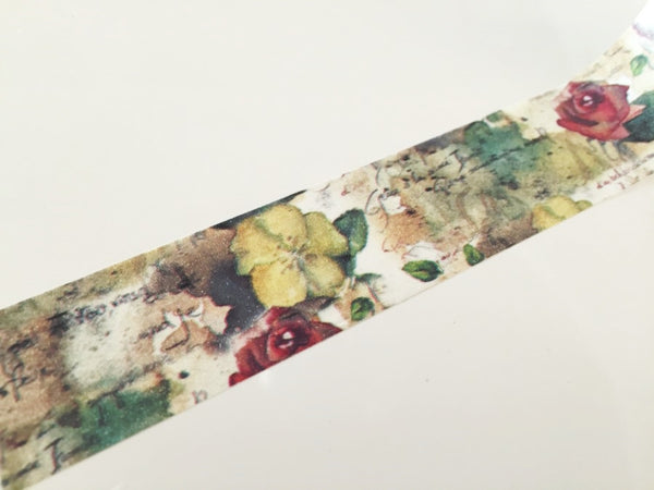Rose & Leaf - Big Washi Tape 30mm - CharmTape - 2