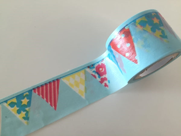 Shabby Chic Bunting Big Washi Tape 30mm x 10m WT800 - CharmTape - 1