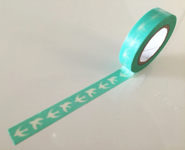 Translucent soaring Swallows Washi Tape 10mm x 10m WT871 - CharmTape - 1