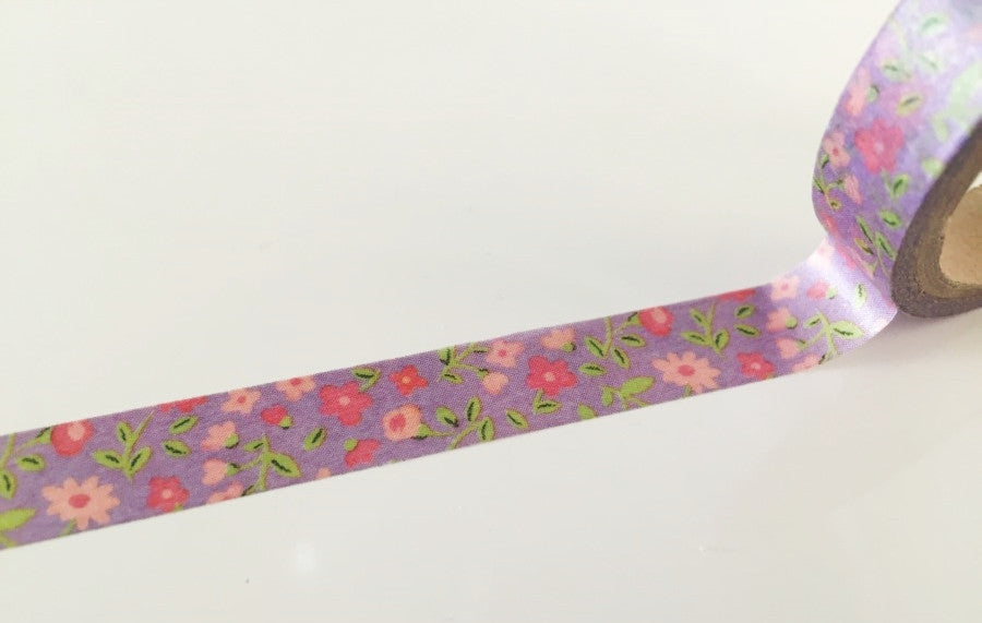 Mini Flowers Lilac Washi Tape 10mm x 10m WT873