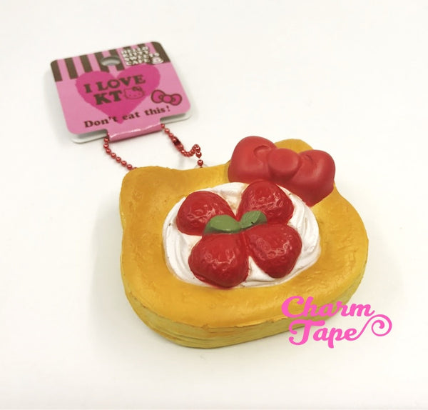 Hello Kitty Strawberry Danish Pastry Squishy cellphone charm by Sanrio