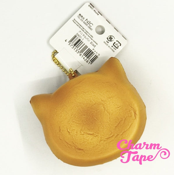 Kitty Cat Face Squishy cellphone charm by Cafe Sakura